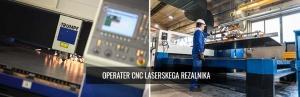 Operater cnc laserskega rezalnika
